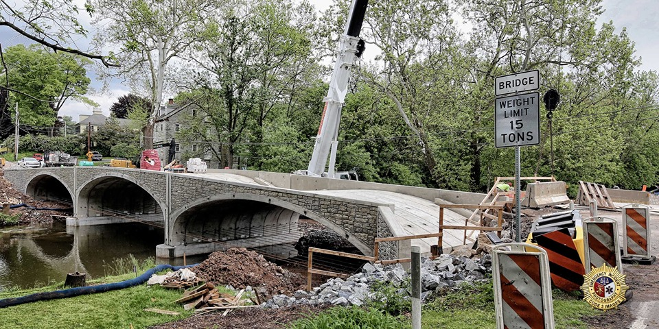 Photos of the W Farmersville Bridge project